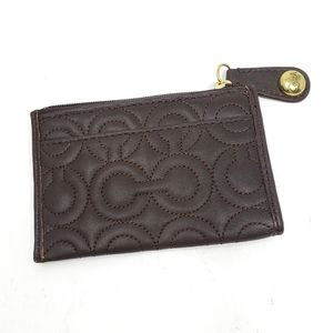 Coach | Dark Brown Leather Coin Change Pouch Purse